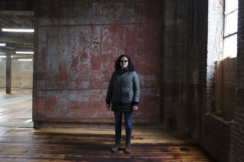 Rosemary Williams, vice president of the Soap Factory's board, poses for a portrait in the empty art non profit on Monday, Jan. 21. The The Soap Factory, which occupies the historic National Purity Soap Factory, is more than $2 million in debt.