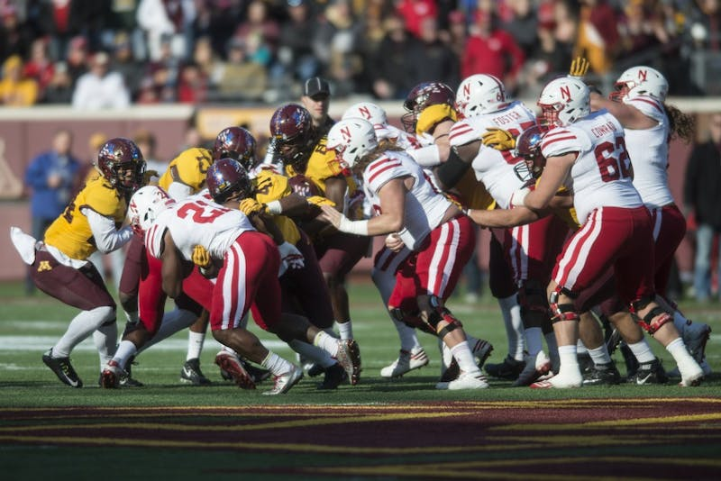 The Gopher defense stops Nebraska at TCF Bank Stadium on Saturday, Nov. 11.