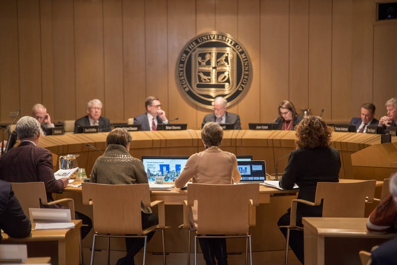 The Board of Regents meet about the East Gateway Project Resolution, on Friday, Feb. 14. The Board of Regents holds a meeting each month.