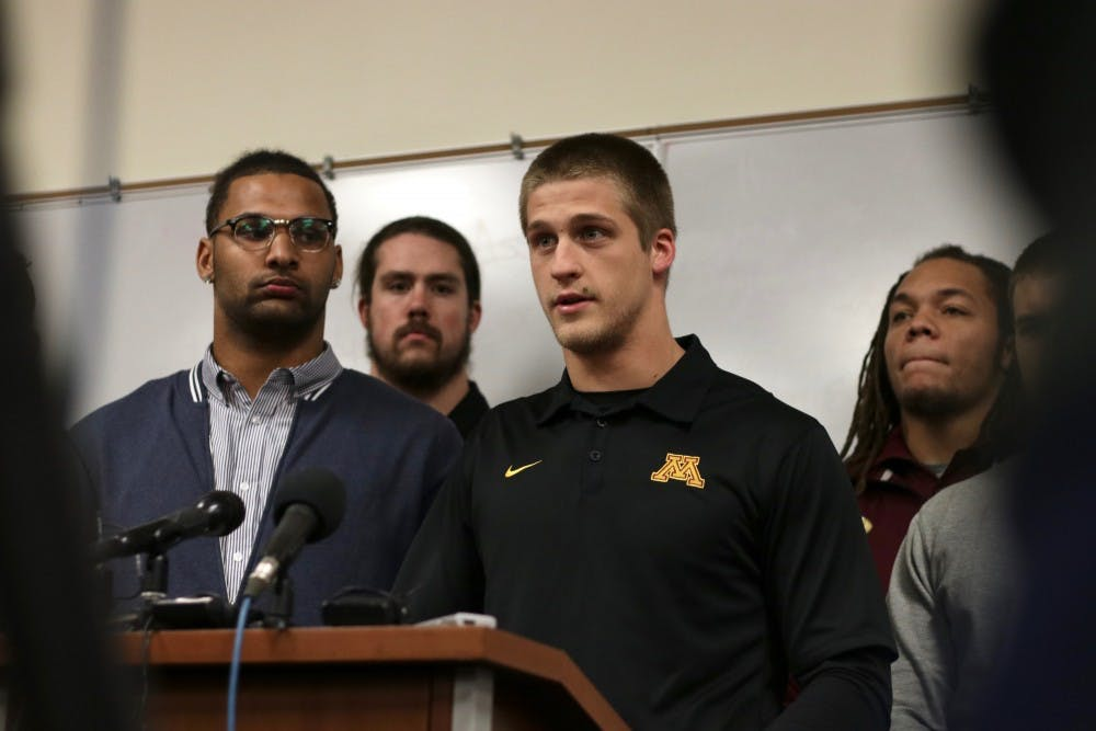 Gophers football players end boycott over sexual assault suspensions