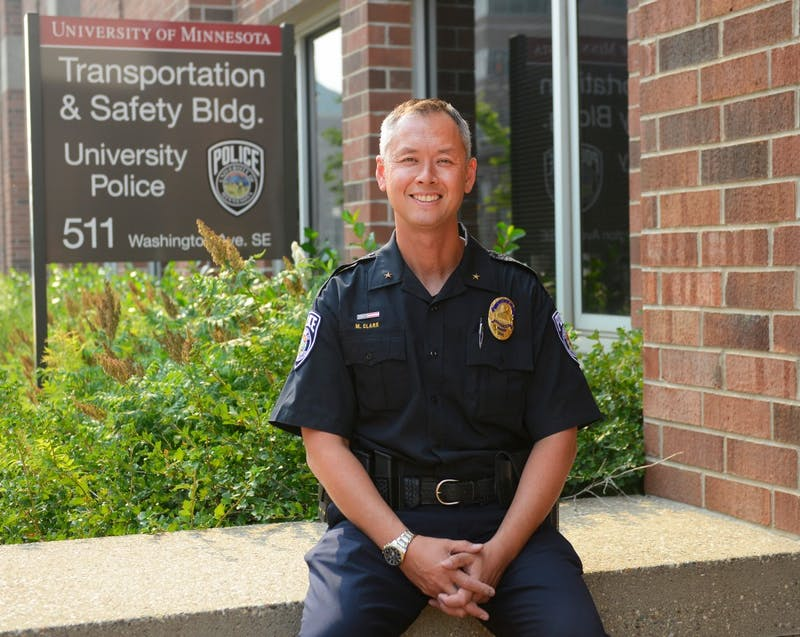 New University of Minnesota Police Department chief Matt Clark poses in the Transportation and Safety Building on Monday. Clark, who has served on the Minneapolis Police Department for more than two decades, will now lead the 50 members of the UMPD as well as the University's Public Safety Communications Center.