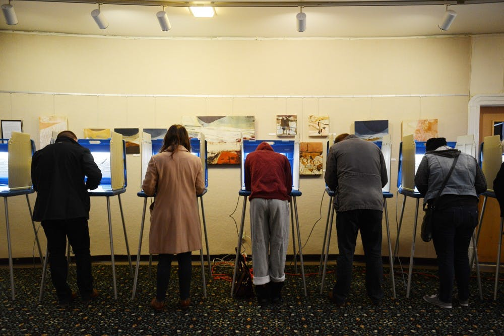 University students turn out to vote early on Election Day