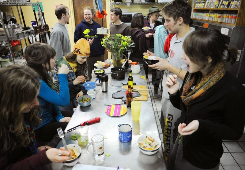 Students' Co-op members and guests gather for a Chinese New Year dinner on Saturday, Feb. 16, 2013, at the co-op.