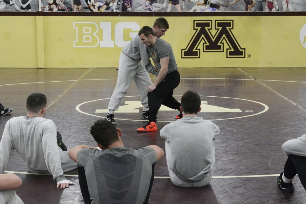 Waiting for their shot: Gophers wrestlers pair with veterans