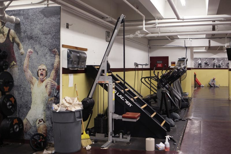 The University wrestling team received donations to move from their current practice facility to previous basketball practice facilities in the Bierman Athletic complex.