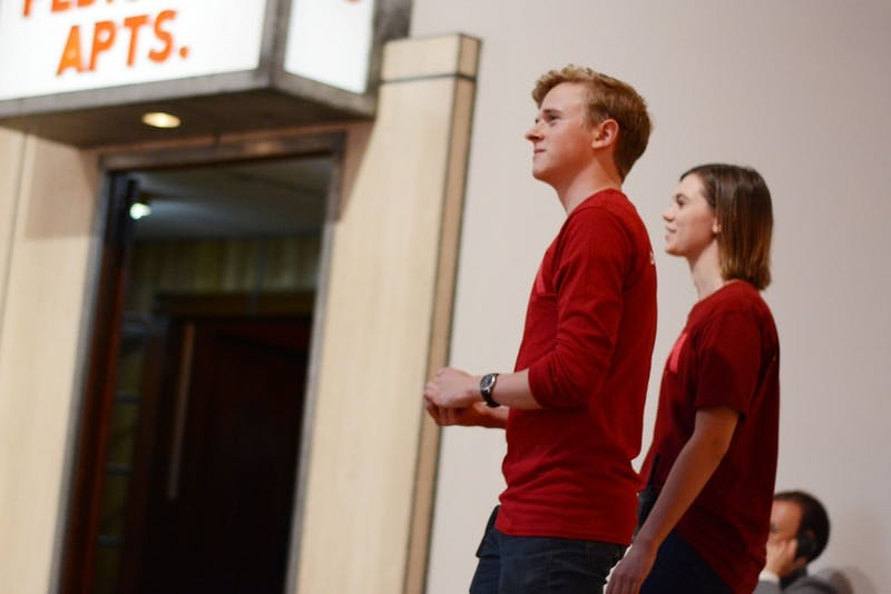 Juniors Patrick Griffin and Olivia Mason patrol the galleries on Tuesday, Sept. 6, 2016 at the Weisman Art Museum on East Bank. Griffin earns minimum wage at his job, which is $9.50 after the last statewide increase in August.
