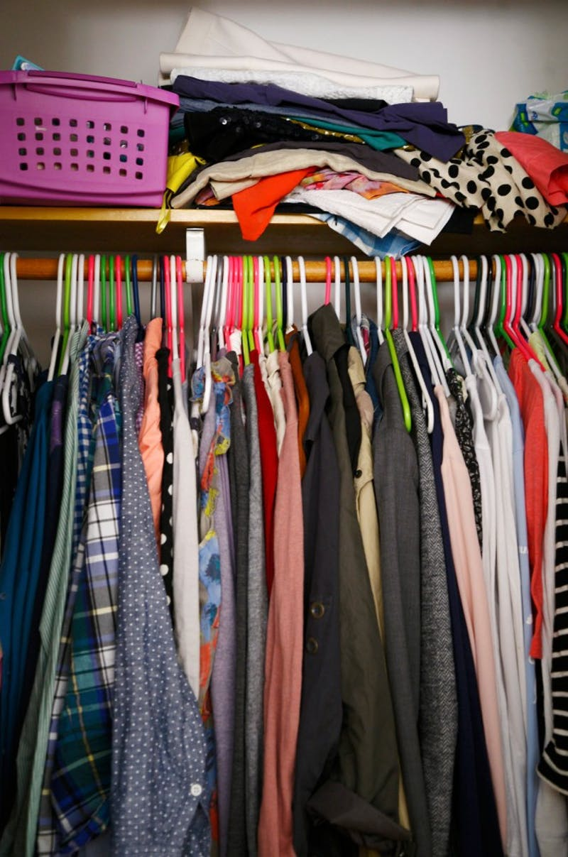 Does this look like your closet? Time for spring cleaning.