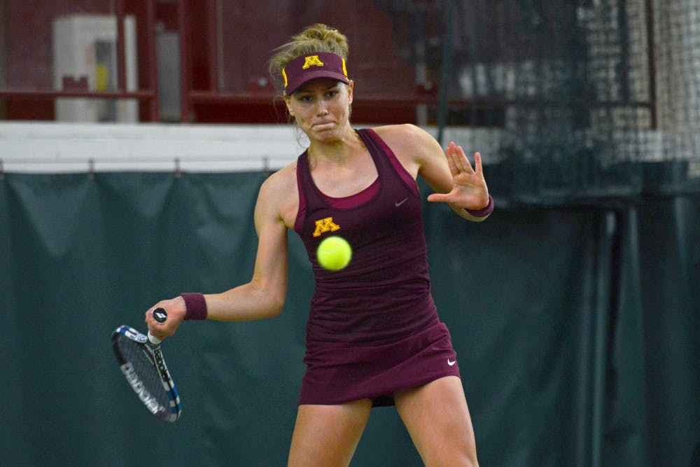 By channelling emotions, sophomore Tina Kreinis brings energy to Gophers