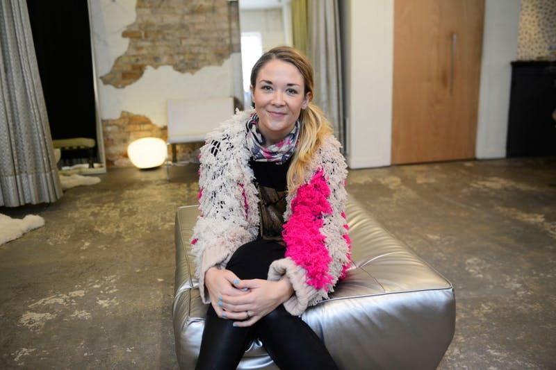 Sarah Edwards poses at Arrow Boutique in Minneapolis on April 22, 2015. Edwards, with the help of her group I AM KXNDNESS, will present the I AM FABULOUS! fashion show at the Varsity Theater on April 26, 2015, to celebrate beauty and style at every age.