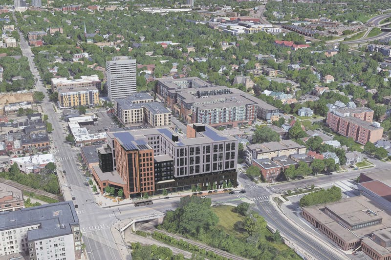 A rendering of the proposed development