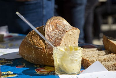 Local bread makers participate in the annual Bread Festival hosted by the Mill City Farmers Market in Minneapolis on Saturday, Sept. 14.