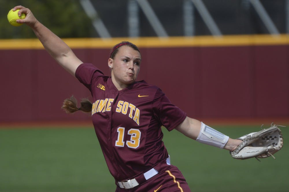 Gophers rout Badgers in doubleheader