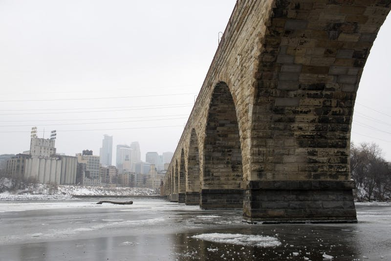 The Stone Arch Bridge as seen on Wednesday, Dec. 12. Intel and MnDOT will be using drones to evaluate the bridge and any repairs it may need.