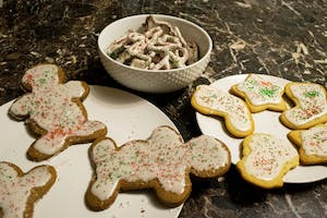 Holiday cookies on display on Tuesday, Dec. 10.