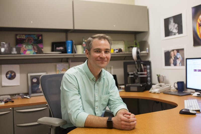 Research Development Services Manager Jason Kadrmas poses for a portrait on Monday, June, 18. Jason is the developer of the new training hub program switching from the previous ULearn module.