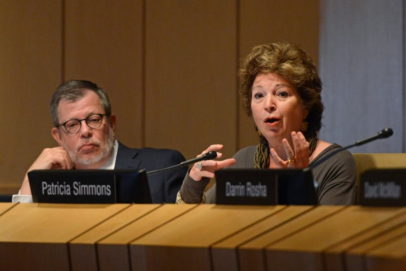 Regent Patricia Simmons speaks at a Board of Regents meeting on June 8, 2017 at McNamara Alumni Center. Simmons recently announced her resignation from the Board of Regents.