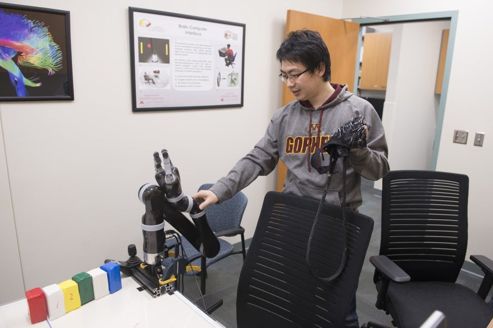 UMN researchers designed a robotic arm — it's controlled by the mind