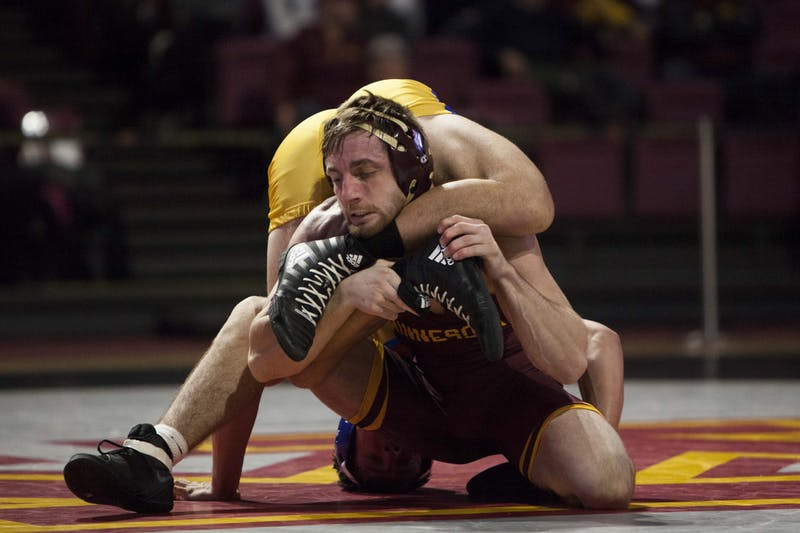 Redshirt Senior Carson Brolsma competes at Maturi Pavilion on Friday, Nov. 1.