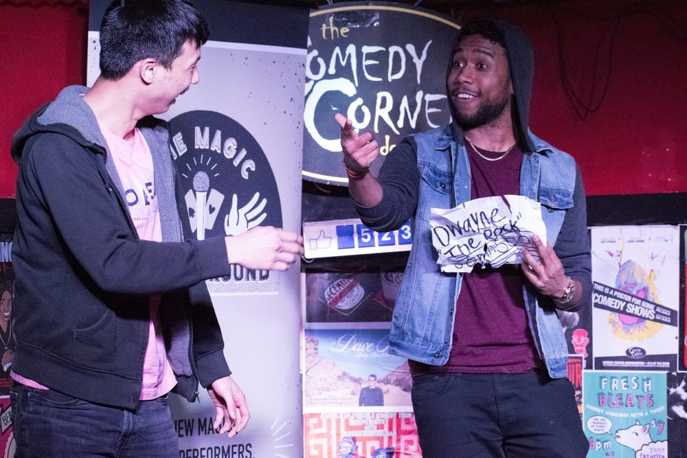 Mixing comedy with magic, students step up to the mic