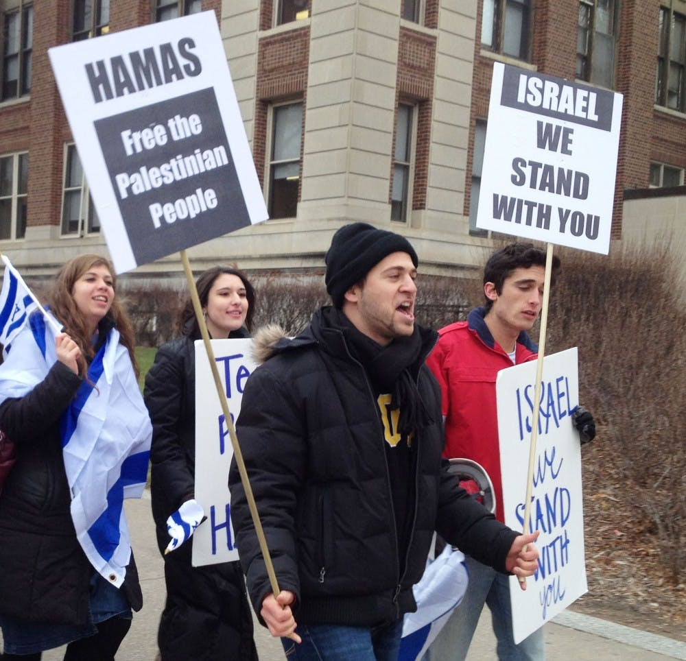 Pro-Israel students rally on campus