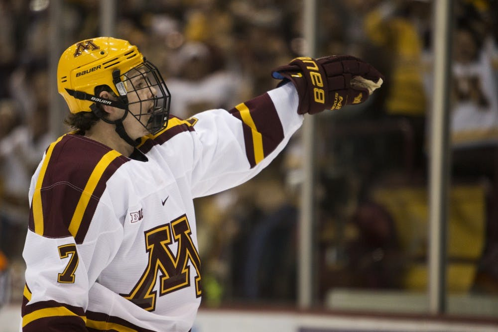 Gophers score three unanswered to top Michigan in overtime