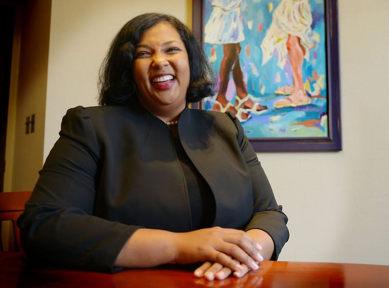 Newly announced Vice President of Diversity and Equity Katrice Albert in her office on Tuesday, July 2, 2013. With her new position, Albert said she is interested in focusing on student development, closing the achievement gap and maintaining the University's commitment to excellence.