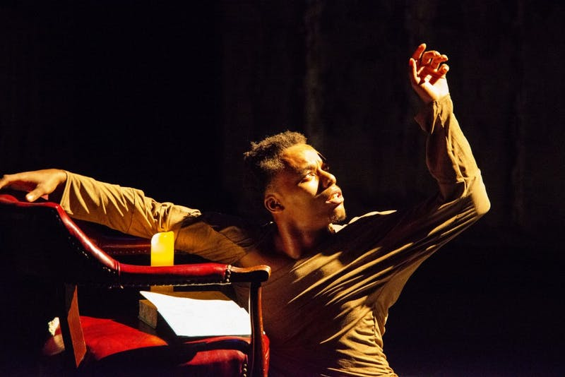 """Nehemiah Lucas performs """"Give Me Strength"""" as part of Pulling Back the Curtain: Remastered at the Southern Theater on Sunday, Sept. 22, 2019."""