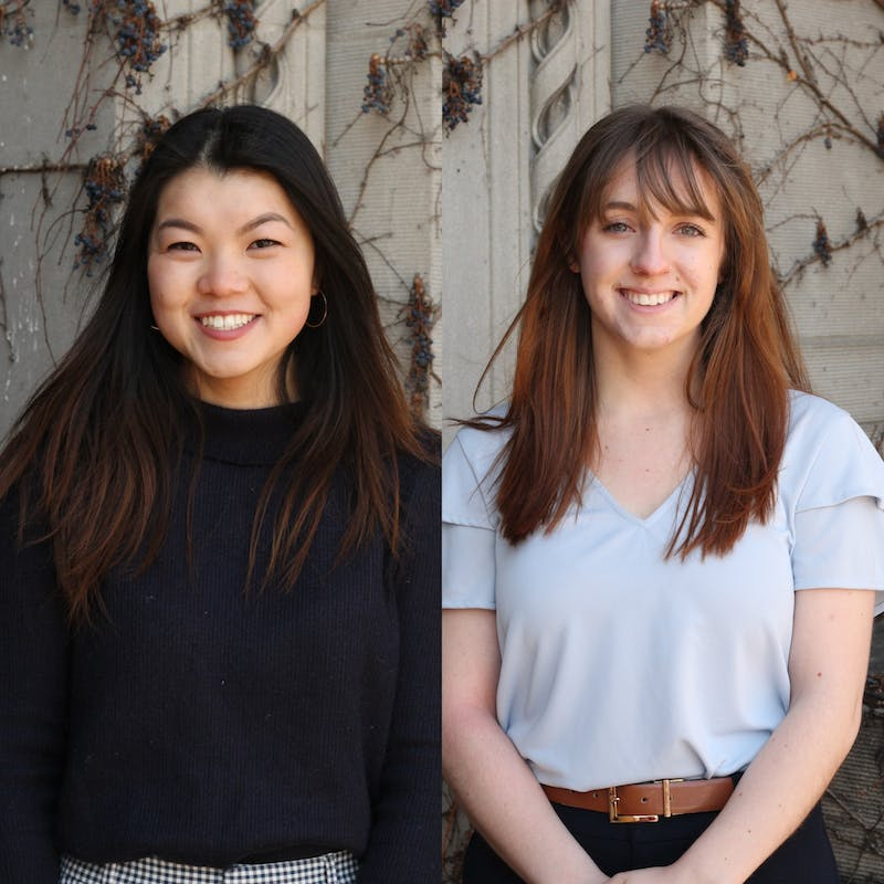 Presidential candidate Amy Ma, left, and vice presidential candidate Becca Cowin, right. Courtesy of the candidates.