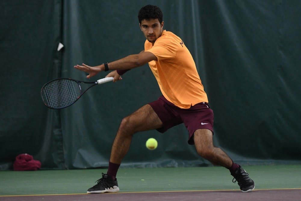 Gophers men's tennis drop two conferences matches over the weekend