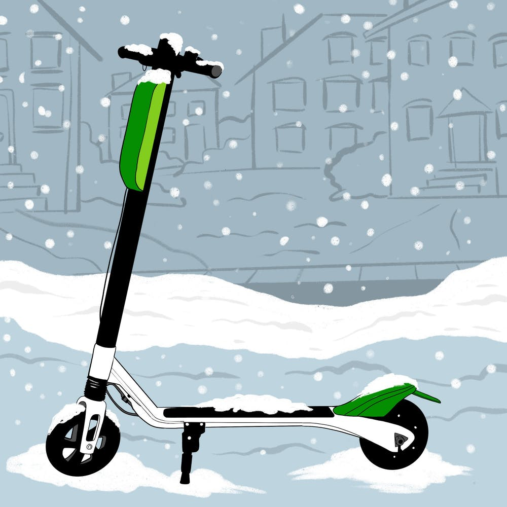Zooming out: E-scooters stocked away for the winter season
