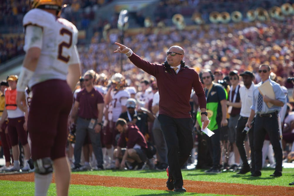Following Ciarrocca's departure, Gophers football names co-offensive coordinators