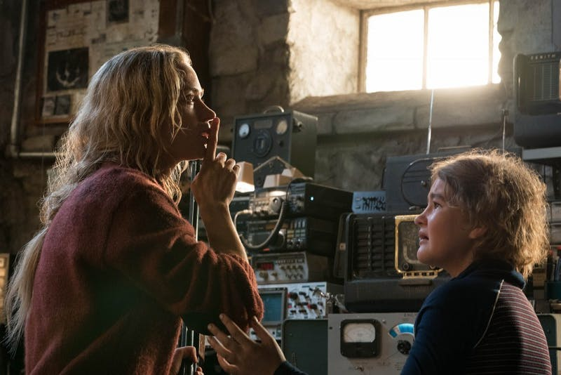 """Emily Blunt and Millicent Simmonds in """"A Quiet Place"""" from Paramount Pictures."""