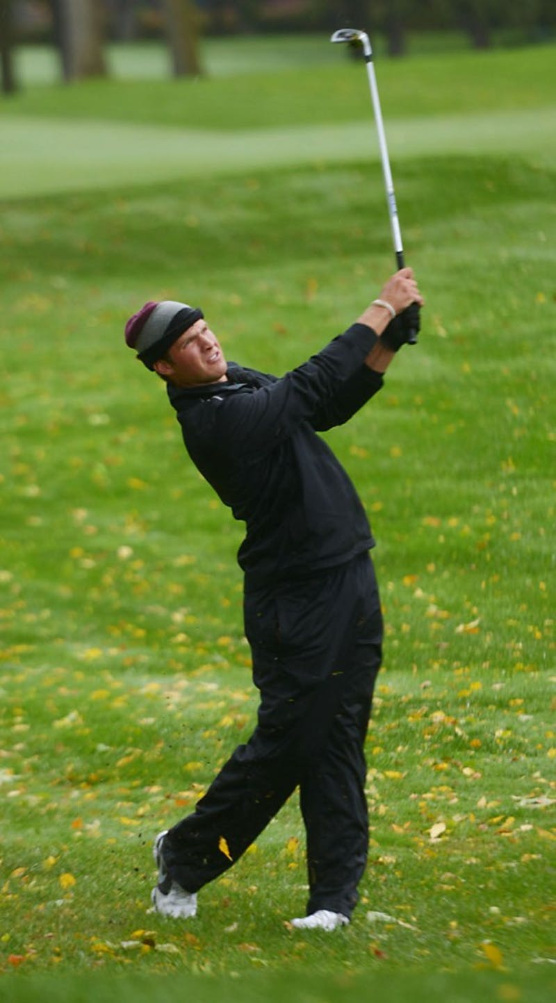 Minnesota's Jon Trasamar plays during the Alister Mackenzie Classic on Sunday, October 6, 2013 at Edina Country Club.