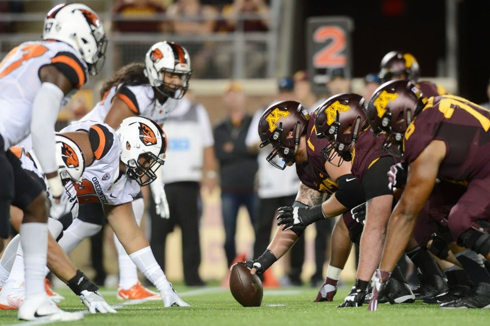Offensive line plays well in victory over Oregon State