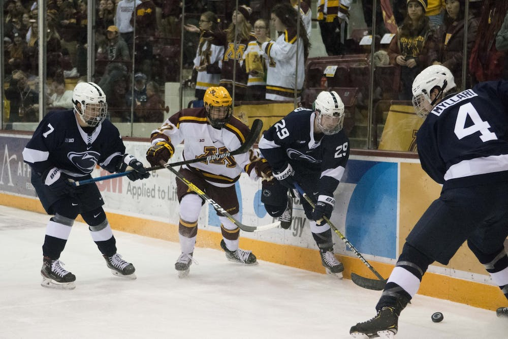 Gophers swept by Penn State