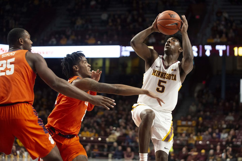 Gophers' men's basketball solid from start to finish in 78-60 victory over Clemson