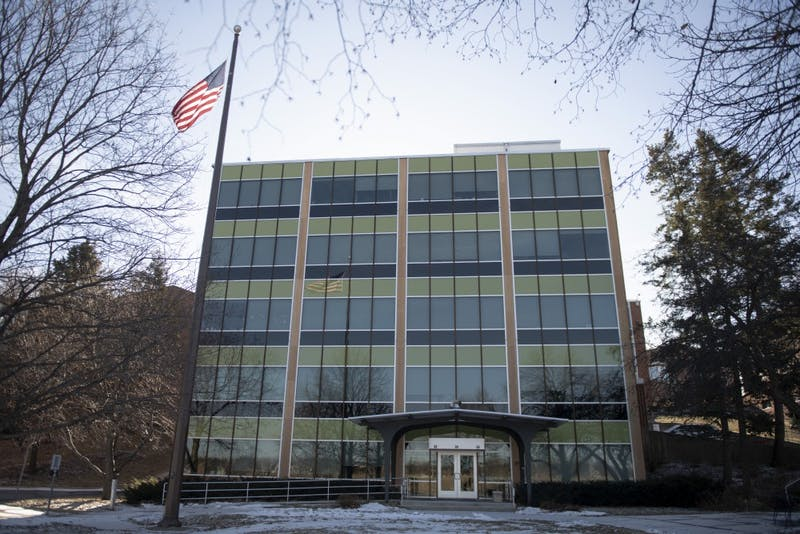 The Northern Research Station is seen on Saturday, Jan. 19, in Saint Paul. The building, administrated by the U.S. Department of Agriculture, has been empty since the government shutdown in December. Researchers with offices in the building have moved to makeshift workspaces on campus to conduct their work.