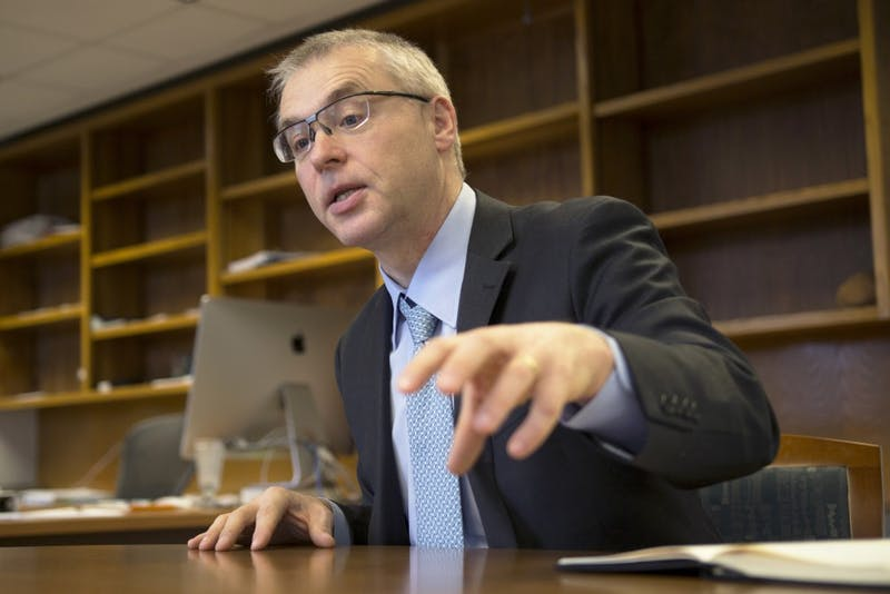 Dean of the University of Minnesota Medical School Jakub Tolar sits down with the Minnesota Daily on Nov. 10, 2017.