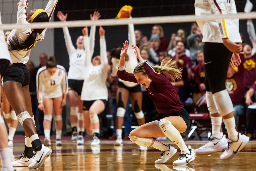 C.C. McGraw leads Gophers volleyball from back row