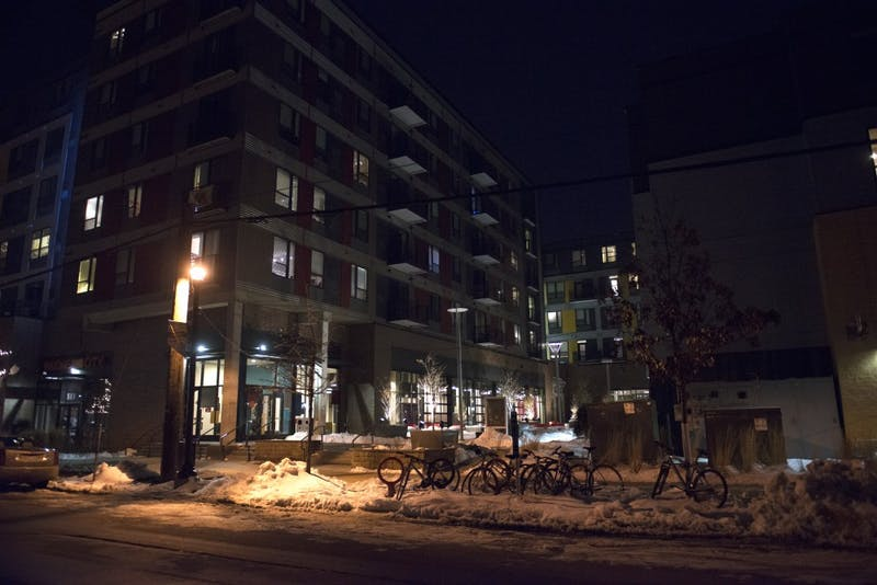 The Marshall apartment complex in Dinkytown as seen on April 4, 2018. Mitchell Hoenig, 20, was taken from The Marshall to Hennepin County Medical Center on Feb. 23 and later died on Feb. 25.