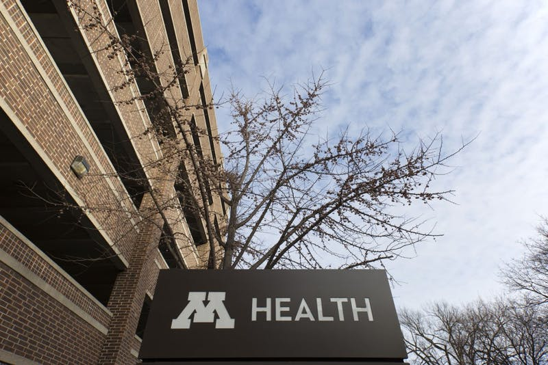 A University of Minnesota Health sign is seen on Wednesday, Jan. 23.