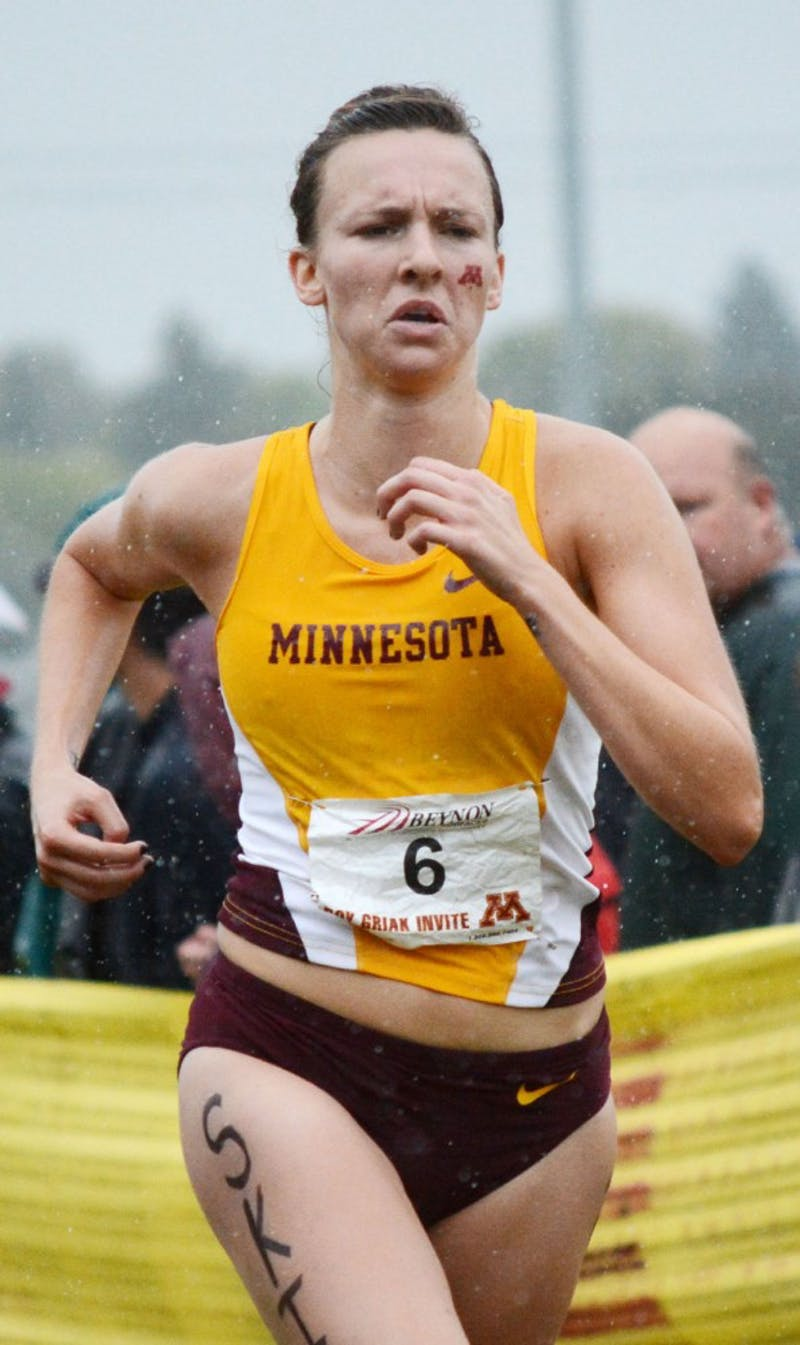 Minnesota's Kelli Budd runs in the Roy Griak Invitational on Saturday, Sept. 28, 2013, at Les Bolstad Golf Course.