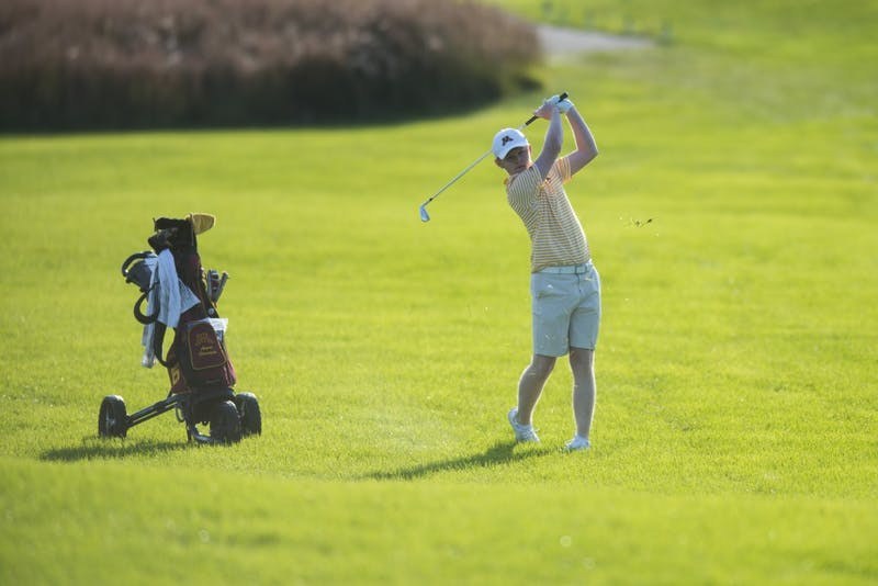 Sophomore Angus Flanagan plays during the Gopher Invitational on Sunday, Sept. 9, 2018.