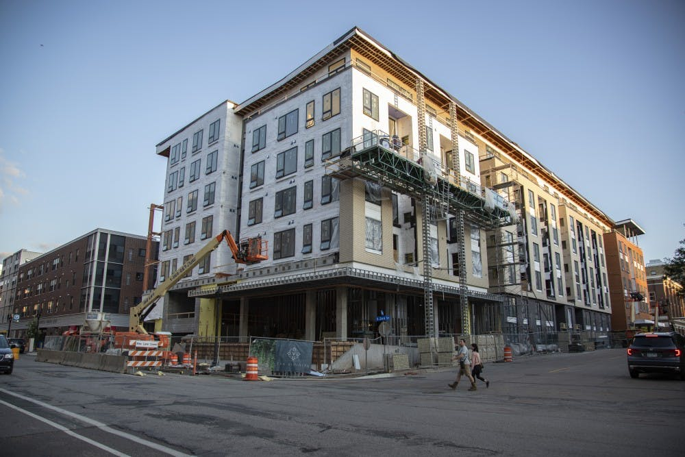 The Vicinity Apartments, one of several apartments in Minneapolis providing short-term rentals, is seen on Monday, July 29.