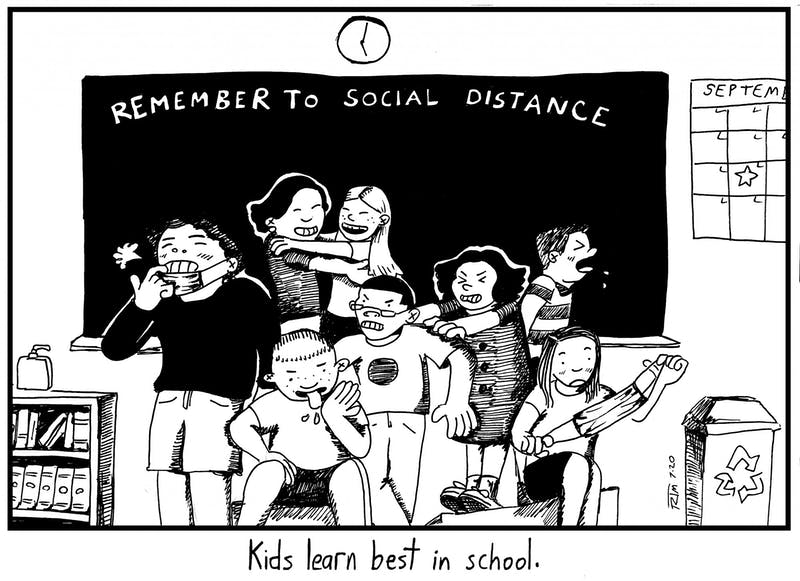 Kids learn best in school