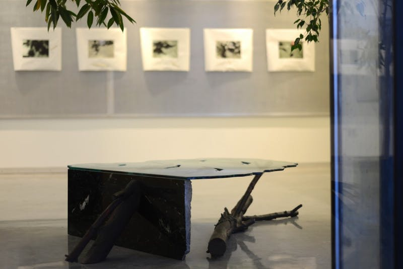 A new exhibition in the University's Architecture and Landscape Architecture Library features artwork by Thomas Rose. Rose's artwork centers around themes of architecture, gardens and shadows.
