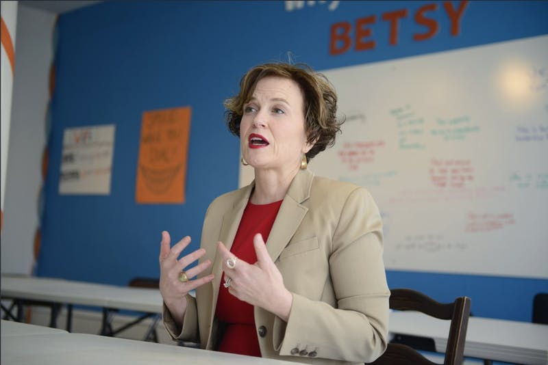 Minneapolis mayor Betsy Hodges talks about running for re-election on Friday, Mar. 31, 2017 in her campaign office in Minneapolis.