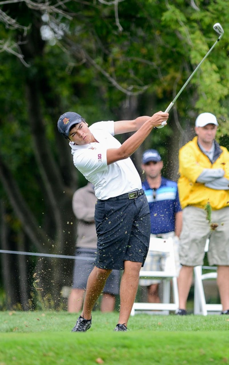 Minnesota's Jose Mendez plays at the season-opening Gopher Invitational at Windsong Farm Golf Club Sept. 8.