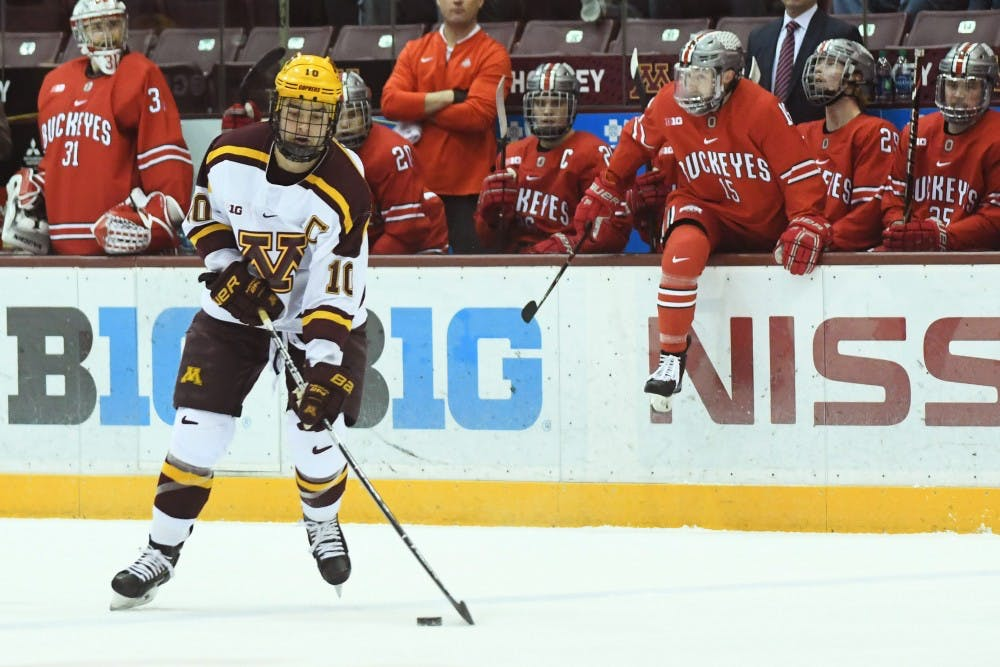 Gophers win series at Michigan after 50-save performance from Mat Robson
