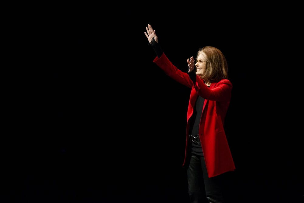 Political activist and feminist Gloria Steinem speaks at UMN